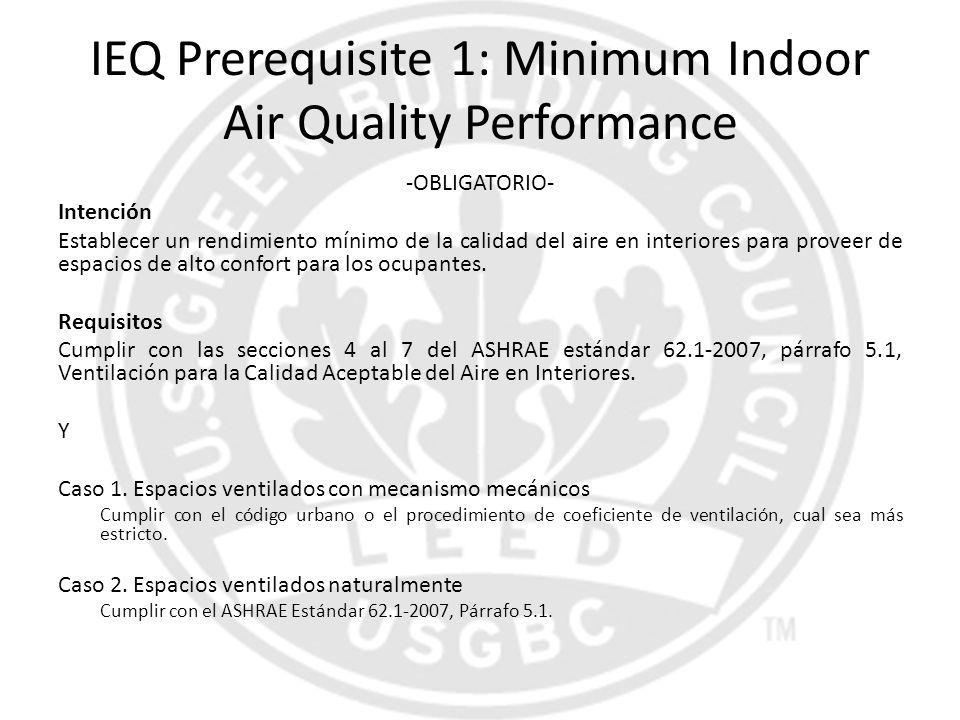 IEQ Prerequisite 1: Minimum Indoor Air Quality Performance