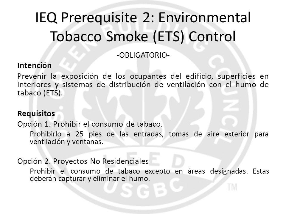IEQ Prerequisite 2: Environmental Tobacco Smoke (ETS) Control