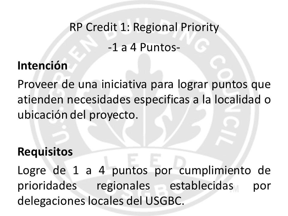 RP Credit 1: Regional Priority