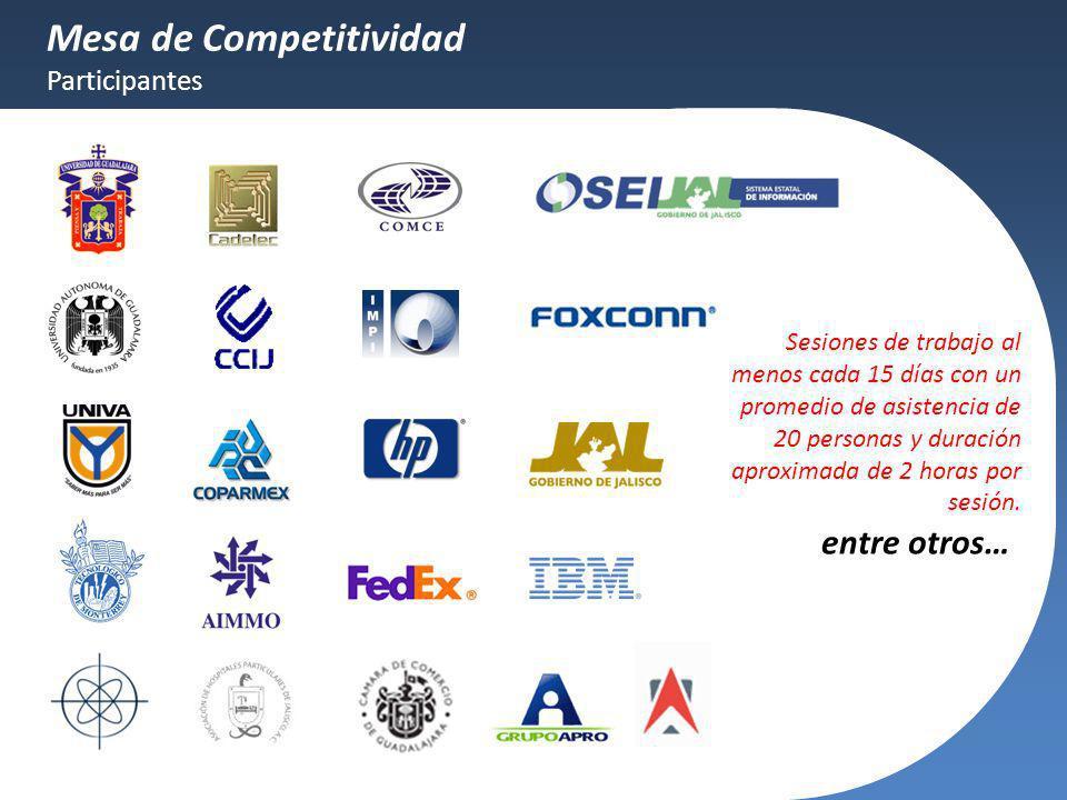 Mesa de Competitividad Participantes