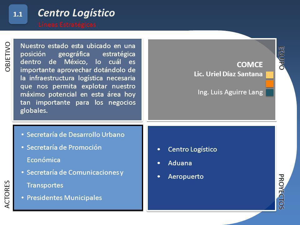 Centro Logístico COMCE 1.1 Líneas Estratégicas