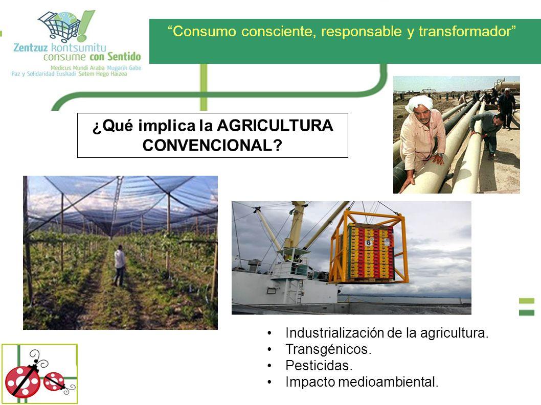 ¿Qué implica la AGRICULTURA CONVENCIONAL