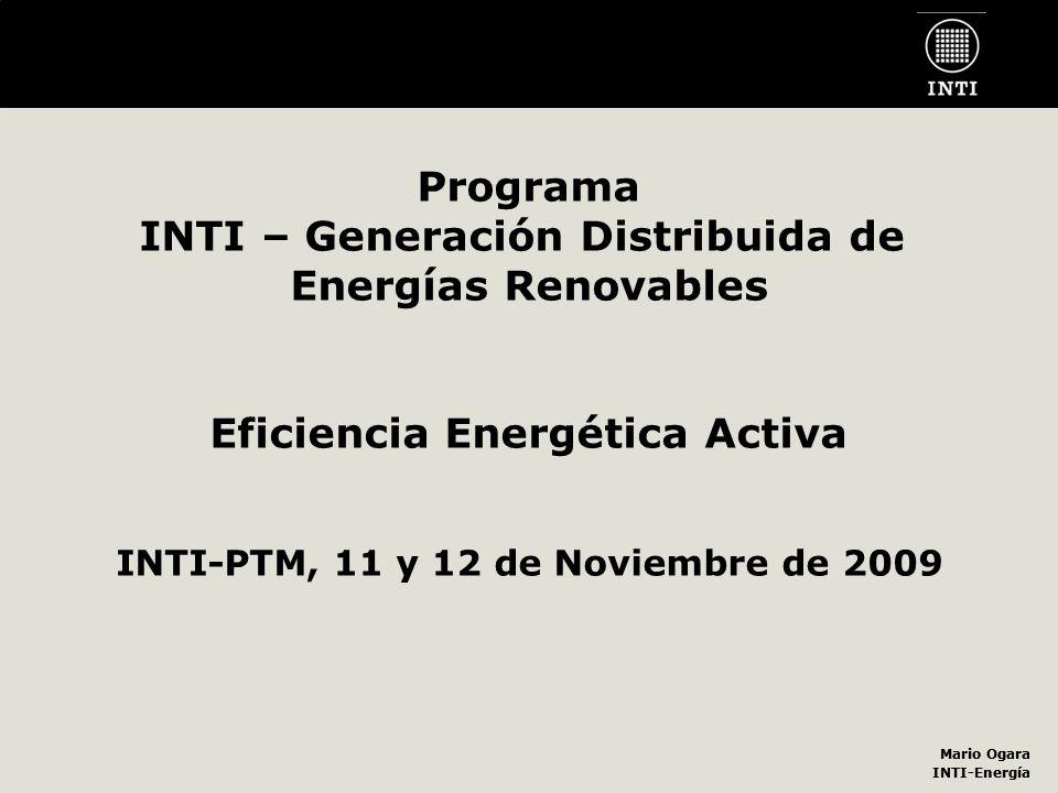 INTI – Generación Distribuida de Energías Renovables