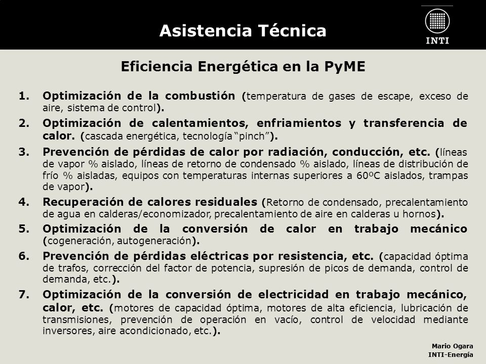 Eficiencia Energética en la PyME