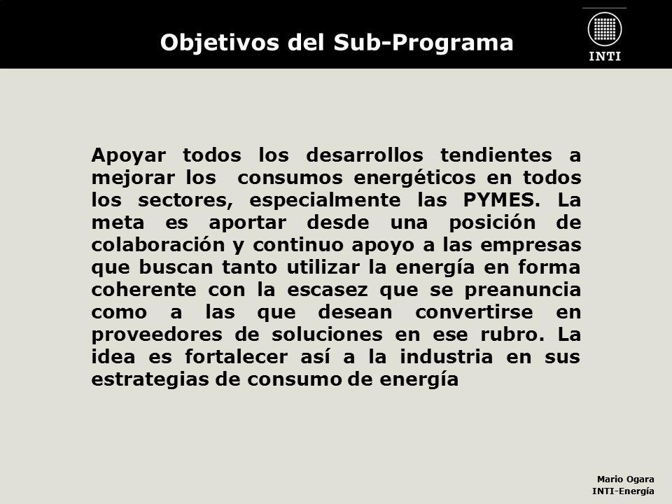 Objetivos del Sub-Programa
