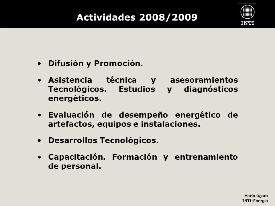 Actividades 2008/2009 Difusión y Promoción.
