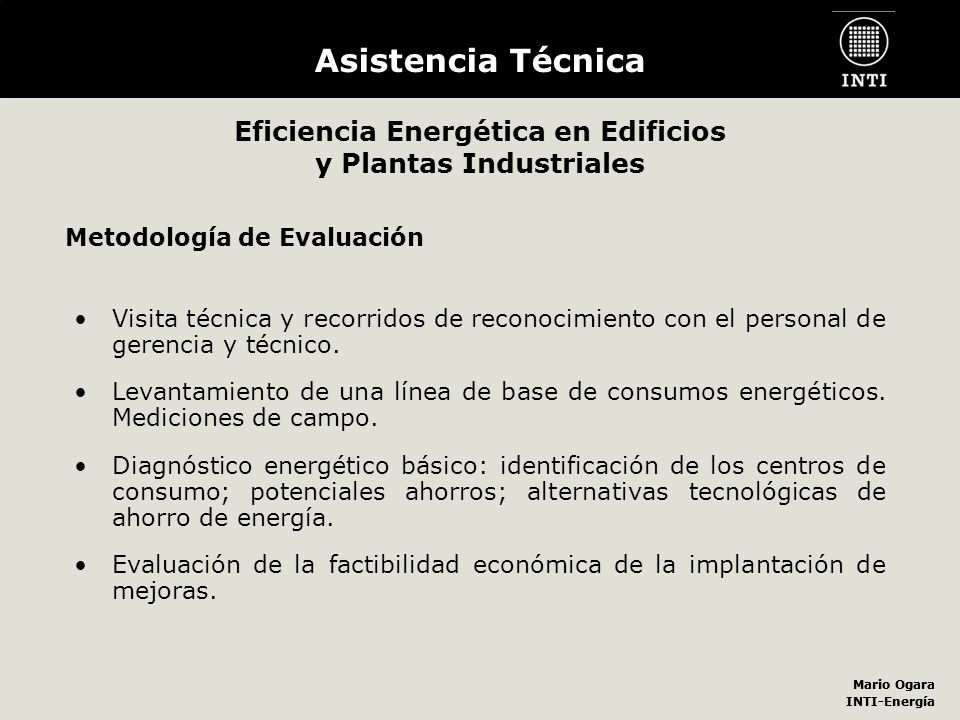 Eficiencia Energética en Edificios y Plantas Industriales