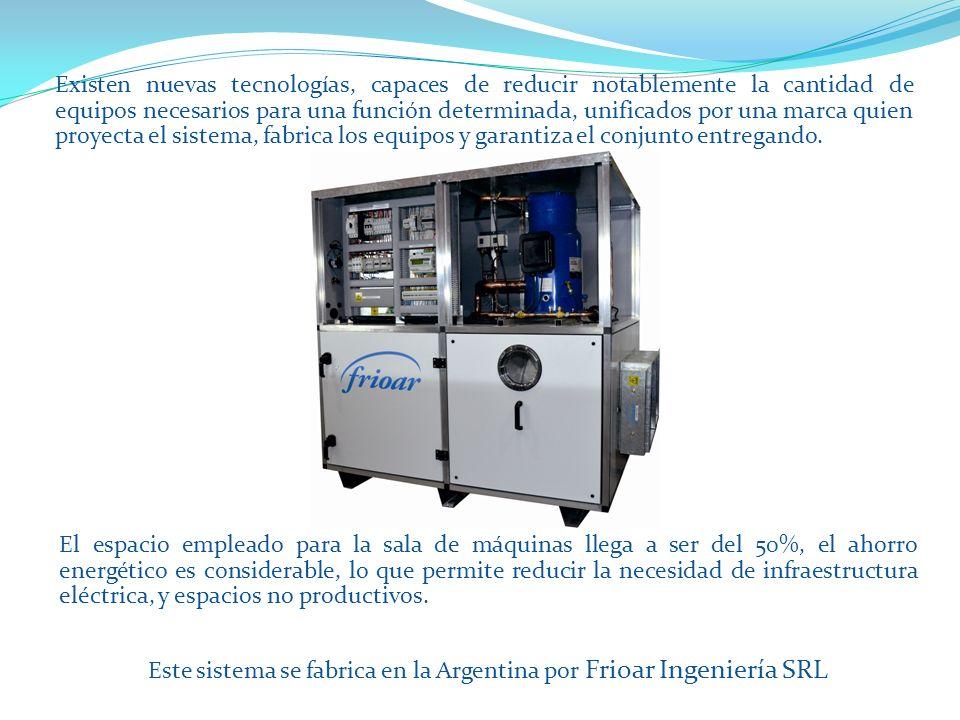 Este sistema se fabrica en la Argentina por Frioar Ingeniería SRL