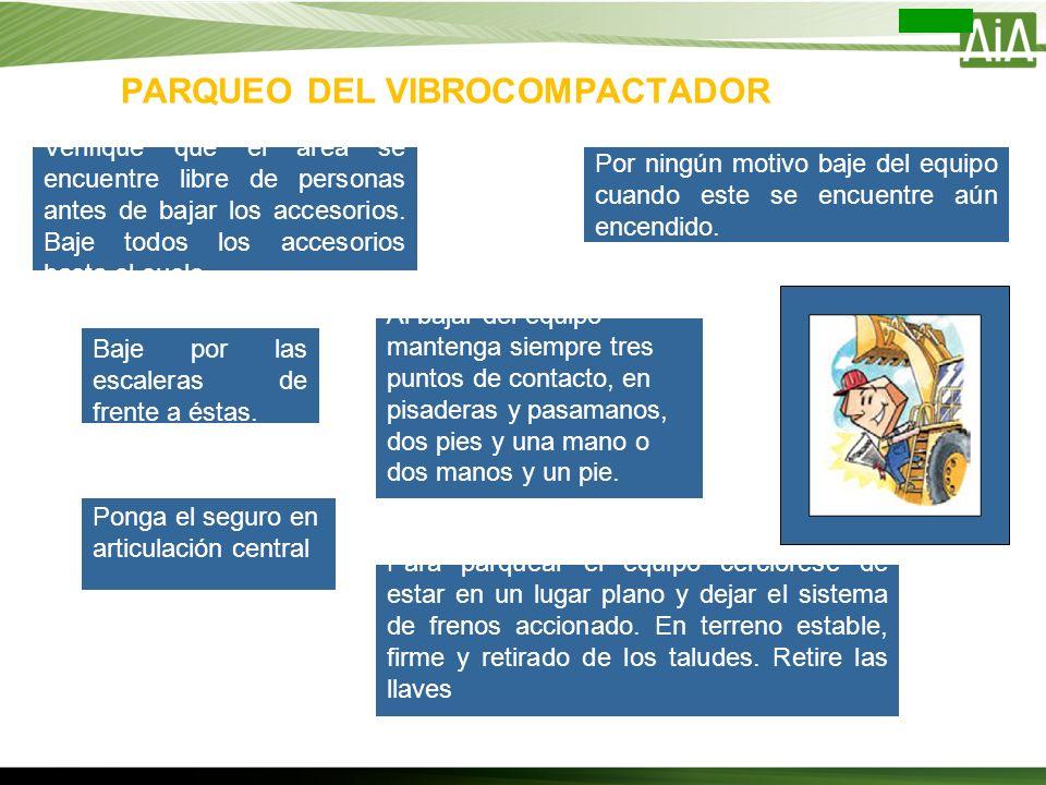 PARQUEO DEL VIBROCOMPACTADOR