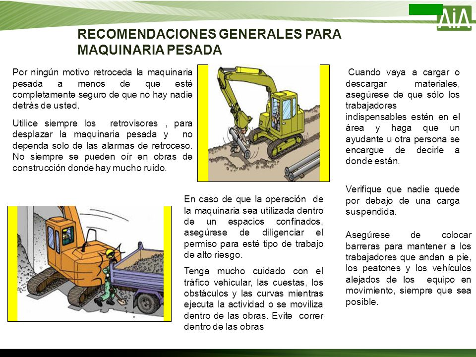 Operaci U00d3n De Maquinaria Pesada Revisado Y Aprobado Por