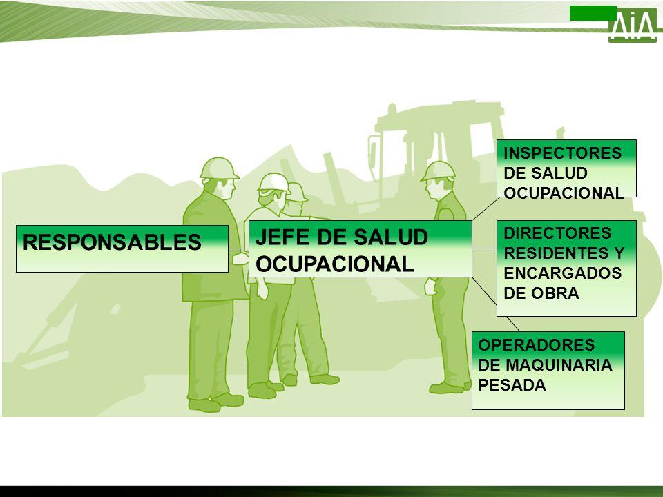 JEFE DE SALUD OCUPACIONAL RESPONSABLES