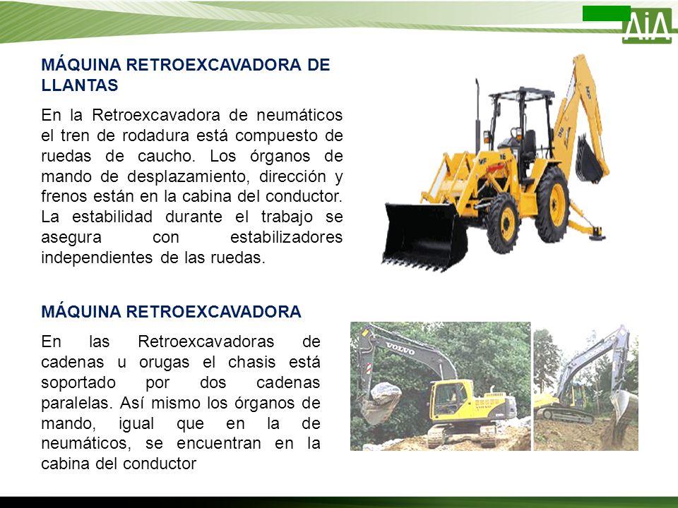 MÁQUINA RETROEXCAVADORA DE LLANTAS