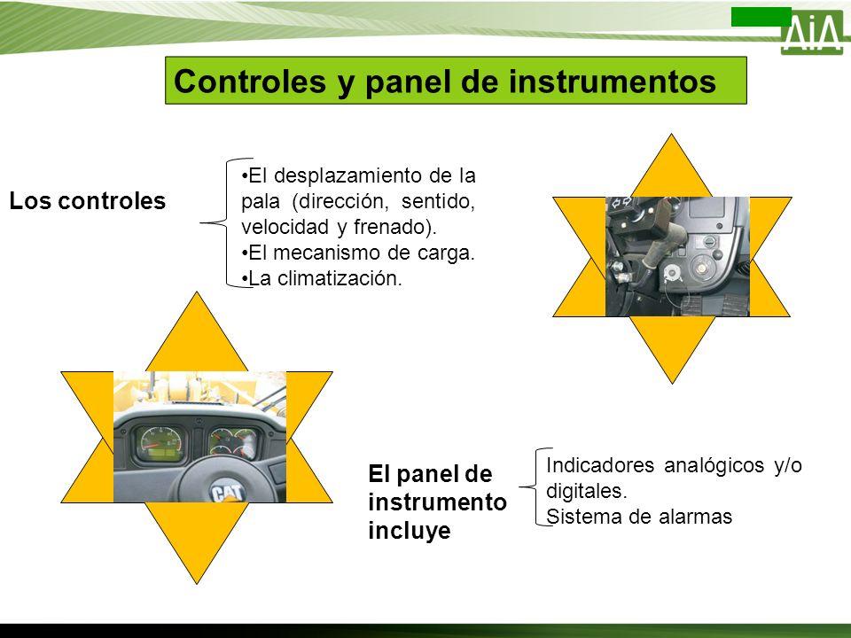 Controles y panel de instrumentos