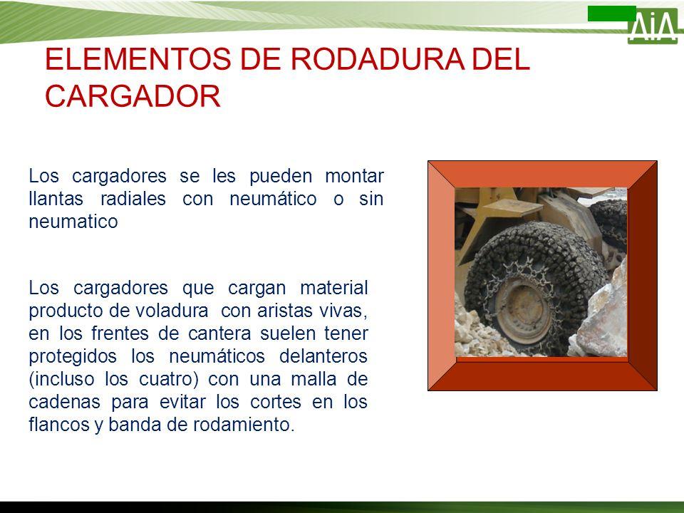 ELEMENTOS DE RODADURA DEL CARGADOR