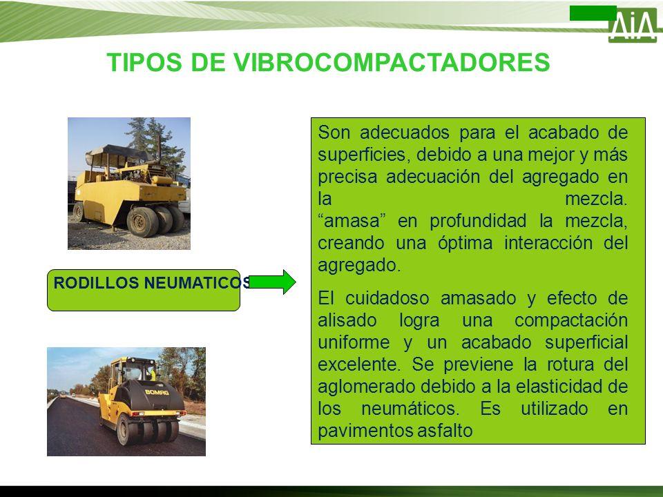 TIPOS DE VIBROCOMPACTADORES