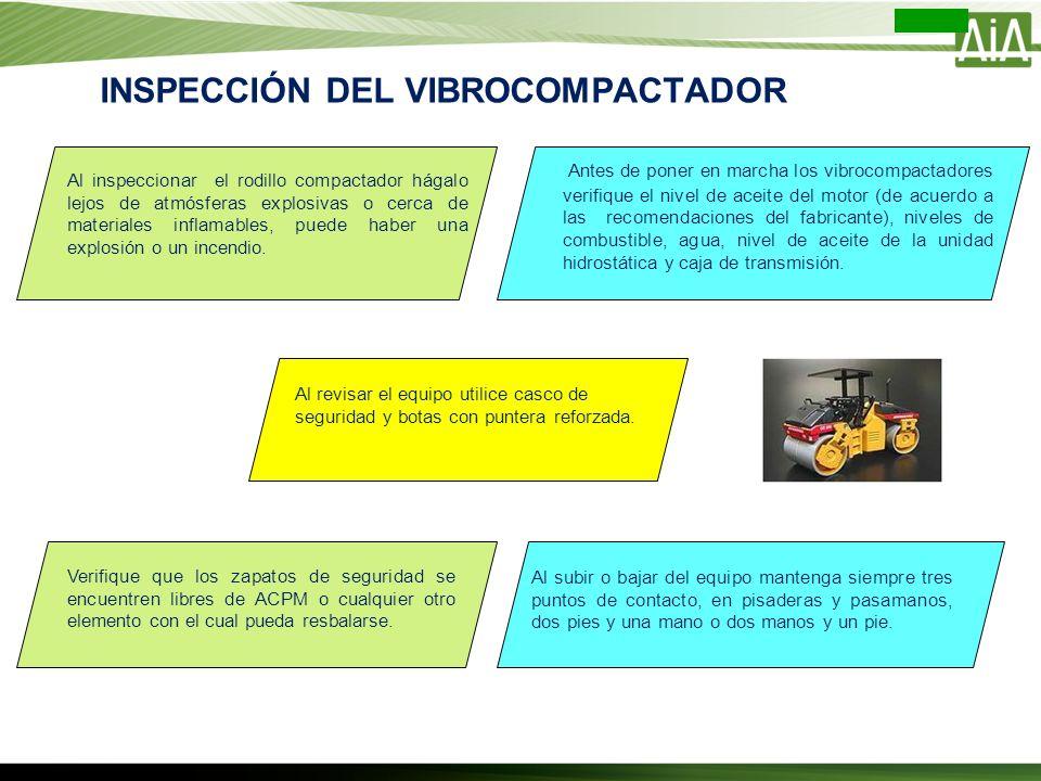 INSPECCIÓN DEL VIBROCOMPACTADOR