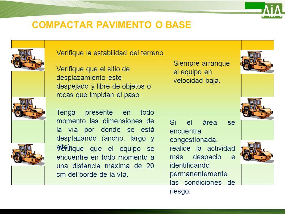 COMPACTAR PAVIMENTO O BASE