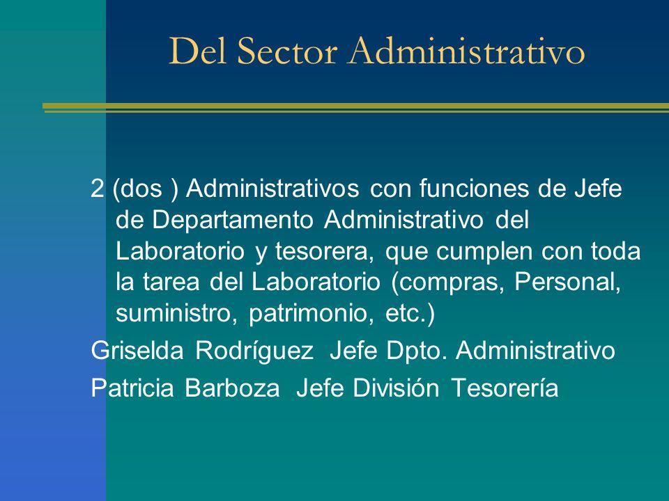 Del Sector Administrativo