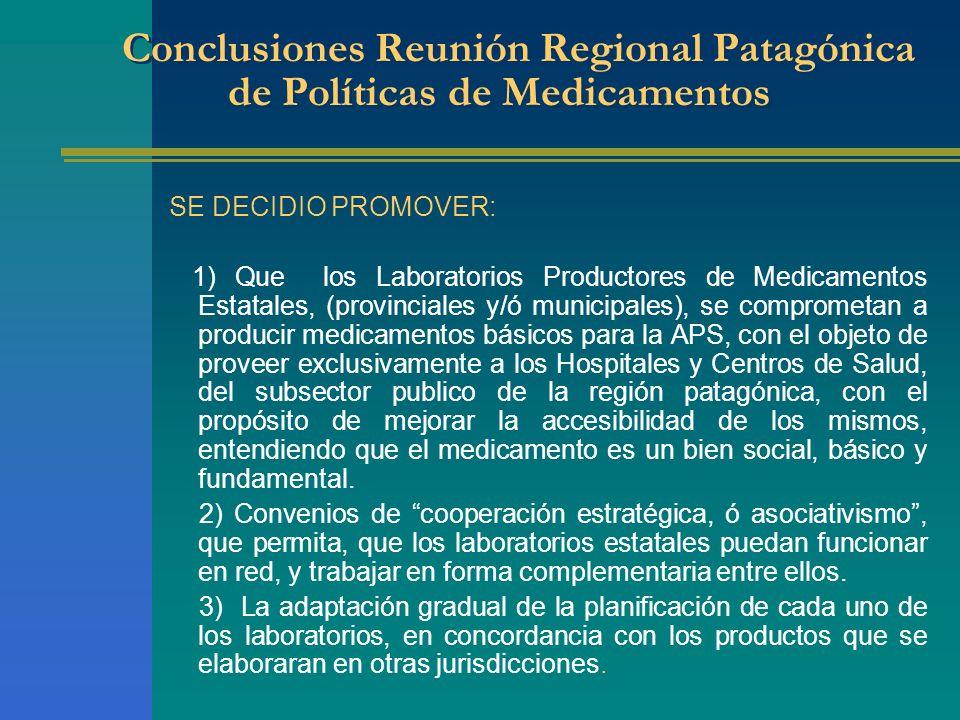 Conclusiones Reunión Regional Patagónica de Políticas de Medicamentos