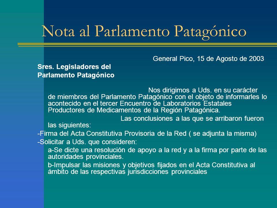 Nota al Parlamento Patagónico
