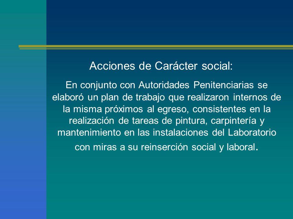 Acciones de Carácter social: