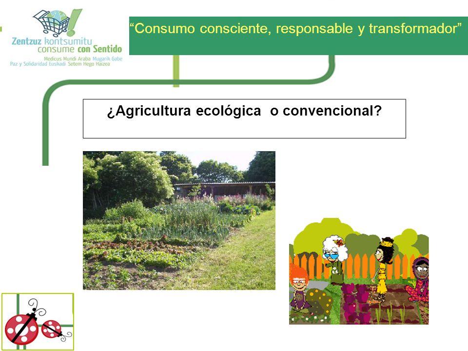 ¿Agricultura ecológica o convencional