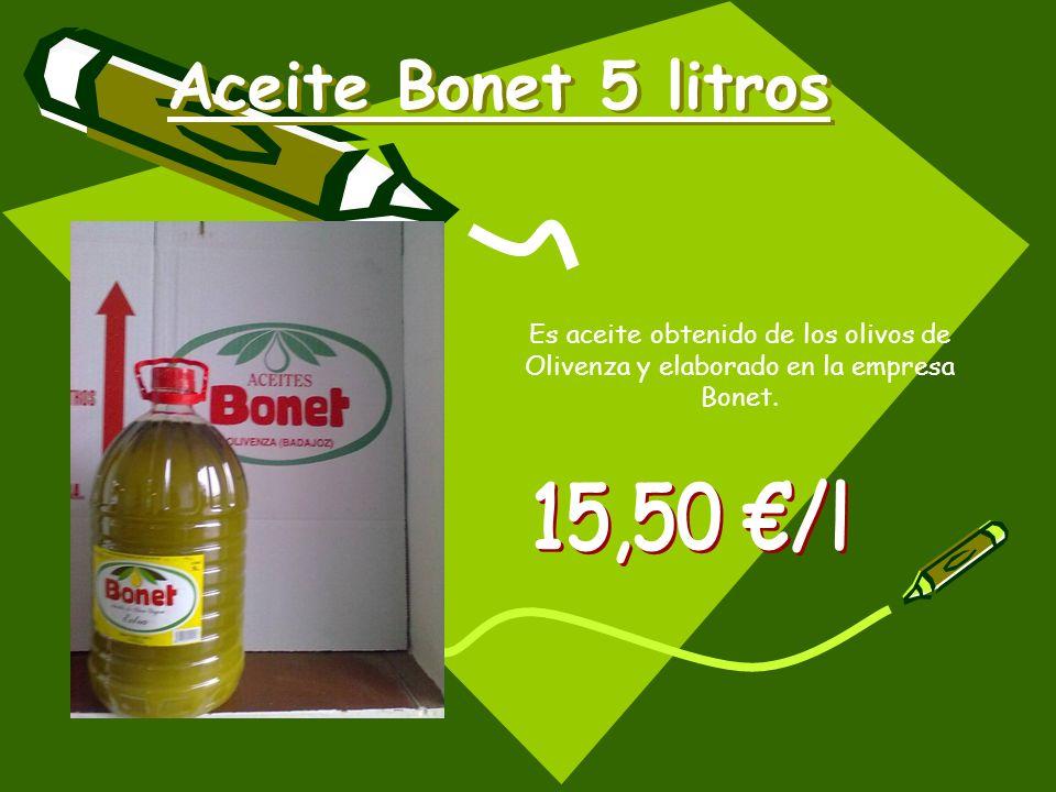 Aceite Bonet 5 litros 15,50 €/l