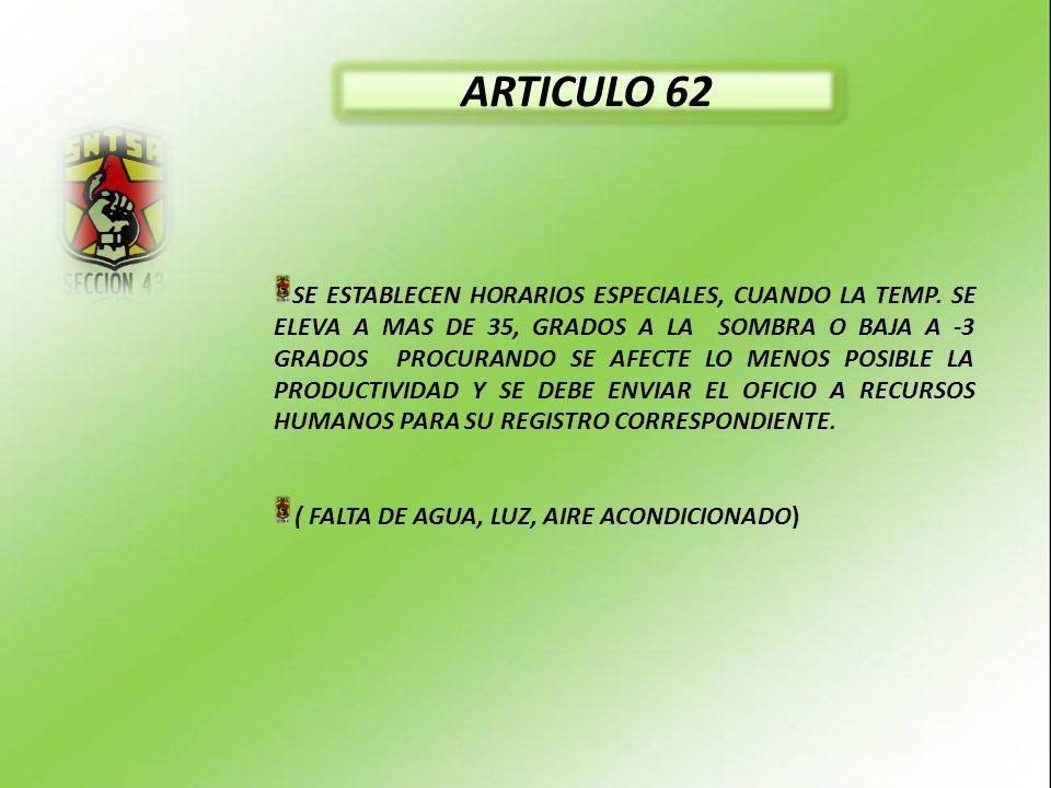 ARTICULO 62