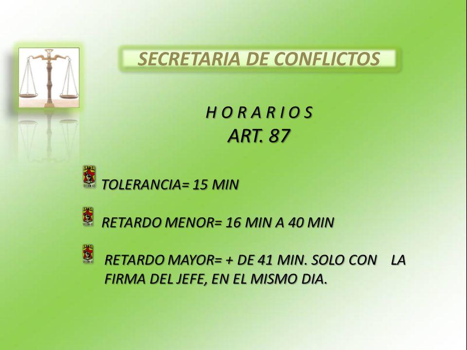 SECRETARIA DE CONFLICTOS