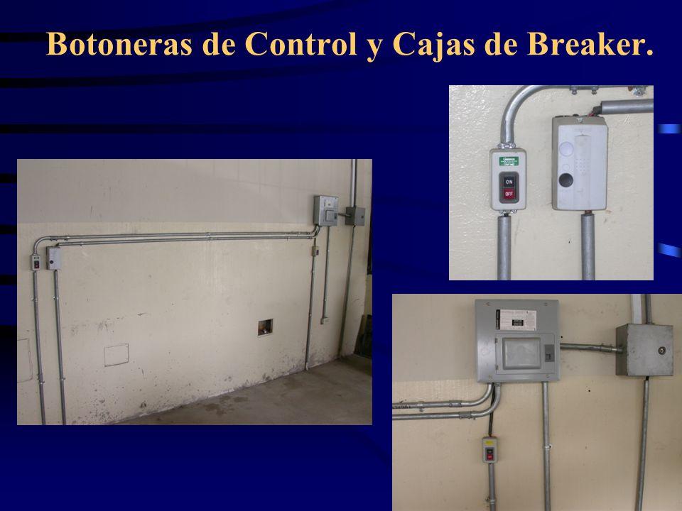 Botoneras de Control y Cajas de Breaker.