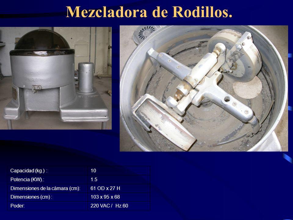 Mezcladora de Rodillos.