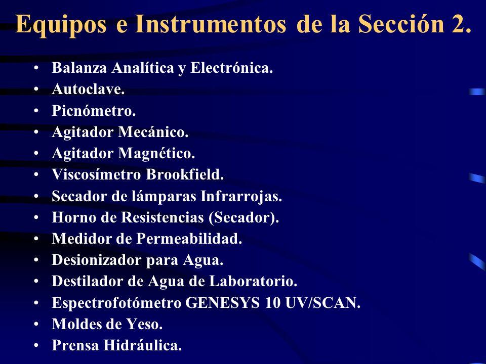 Equipos e Instrumentos de la Sección 2.