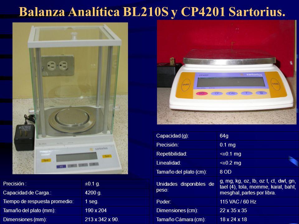 Balanza Analítica BL210S y CP4201 Sartorius.