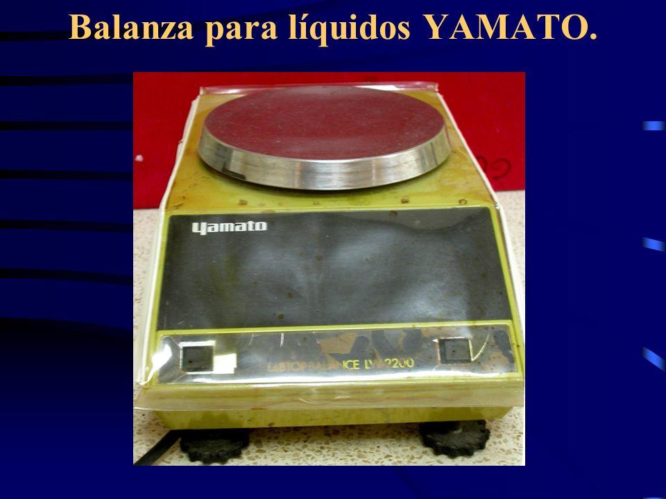 Balanza para líquidos YAMATO.