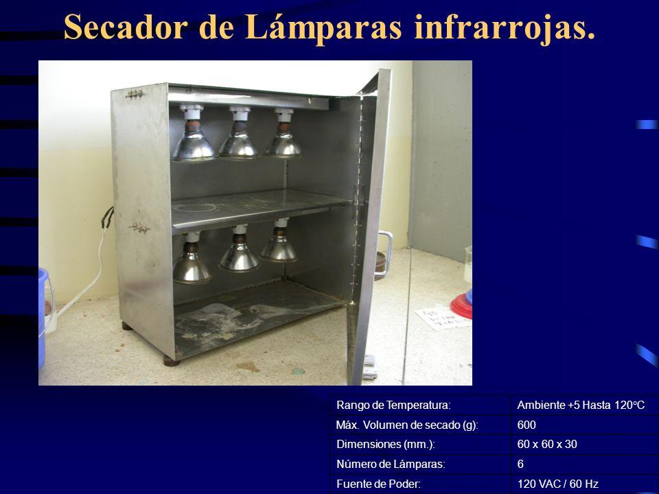 Secador de Lámparas infrarrojas.