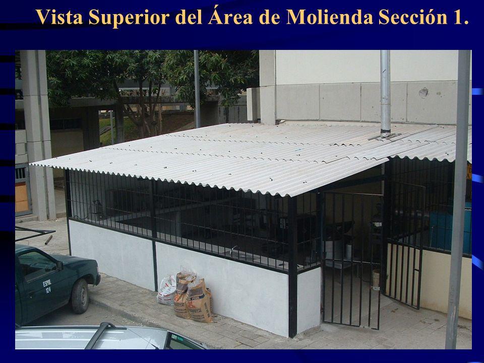 Vista Superior del Área de Molienda Sección 1.