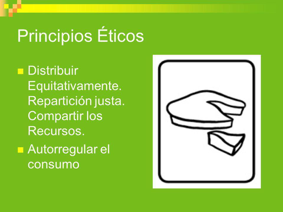 Principios ÉticosDistribuir Equitativamente.Repartición justa.