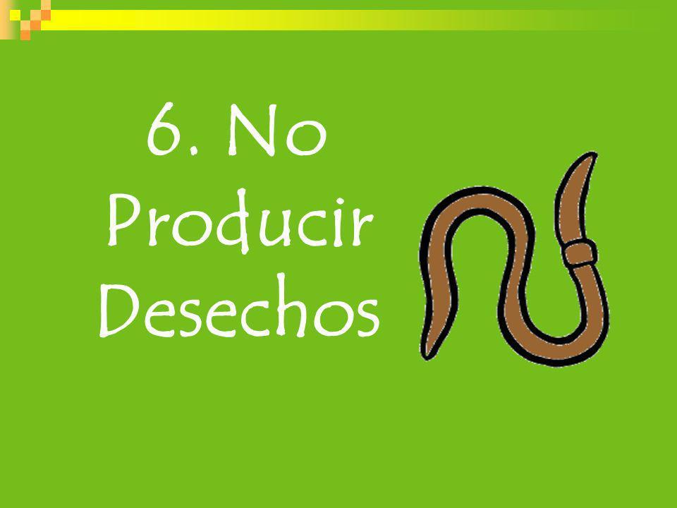 6. No Producir Desechos 45