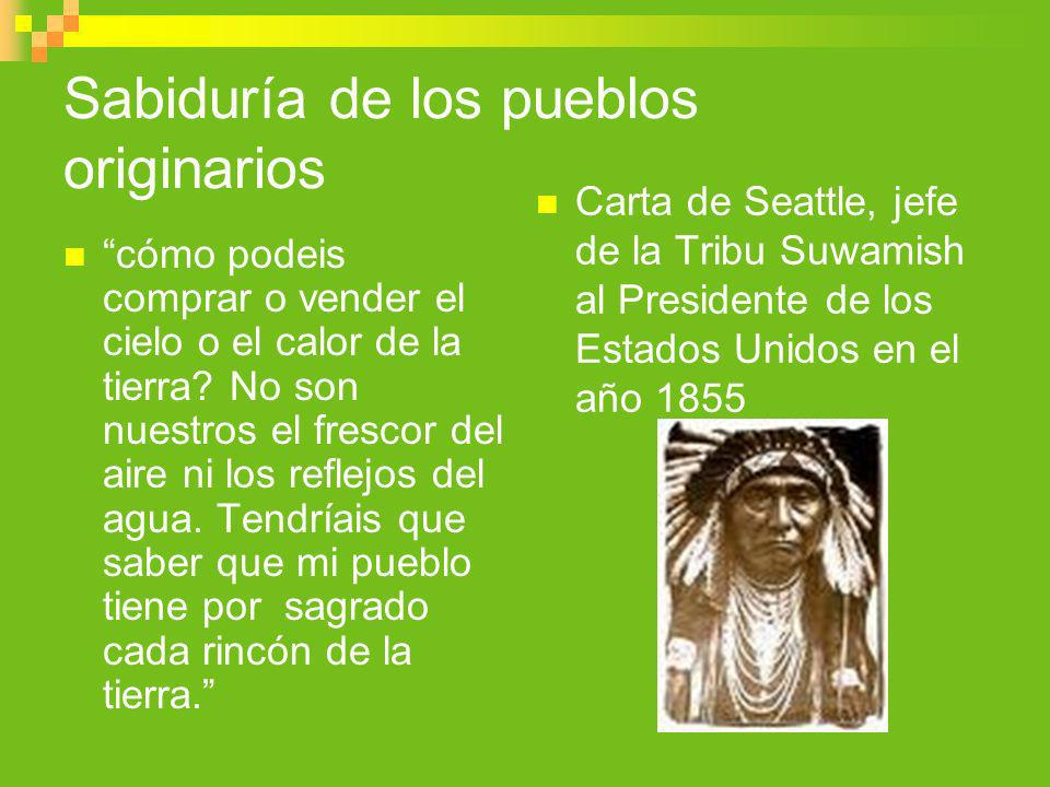 Sabiduría de los pueblos originarios
