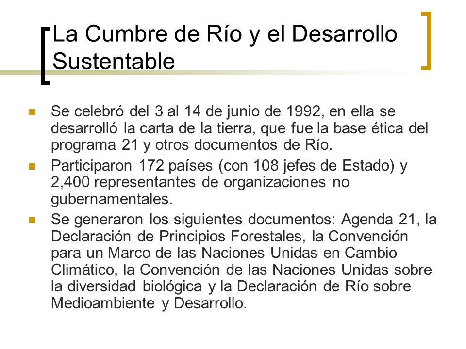 La Cumbre de Río y el Desarrollo Sustentable