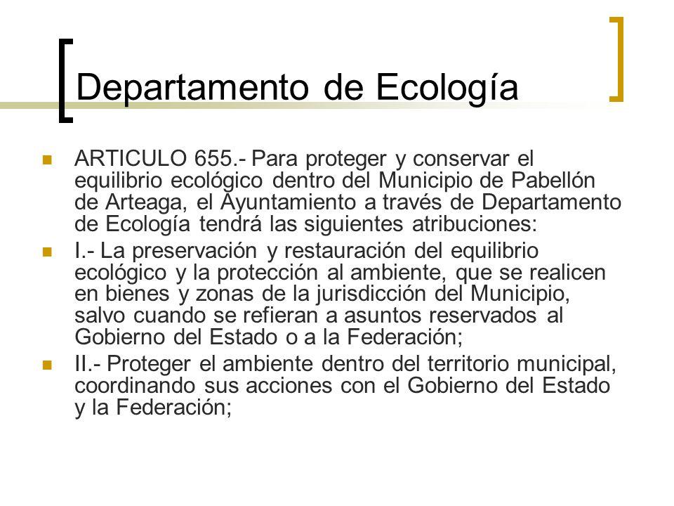 Departamento de Ecología