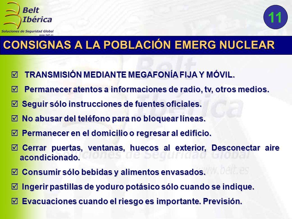 11 CONSIGNAS A LA POBLACIÓN EMERG NUCLEAR