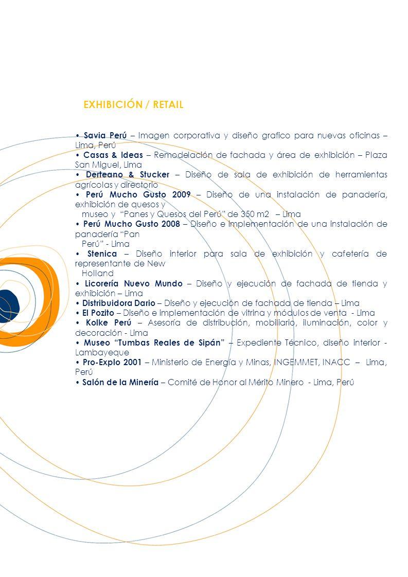EXHIBICIÓN / RETAIL • Savia Perú – Imagen corporativa y diseño grafico para nuevas oficinas – Lima, Perú.