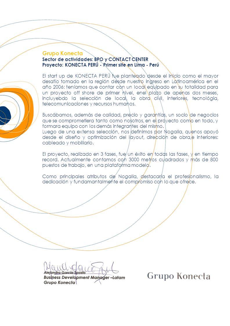 Grupo Konecta Sector de actividades: BPO y CONTACT CENTER