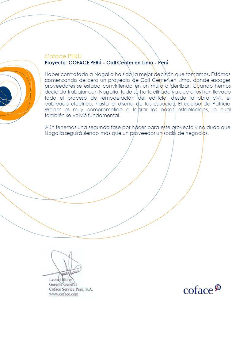 Coface PERU Proyecto: COFACE PERÚ - Call Center en Lima - Perú