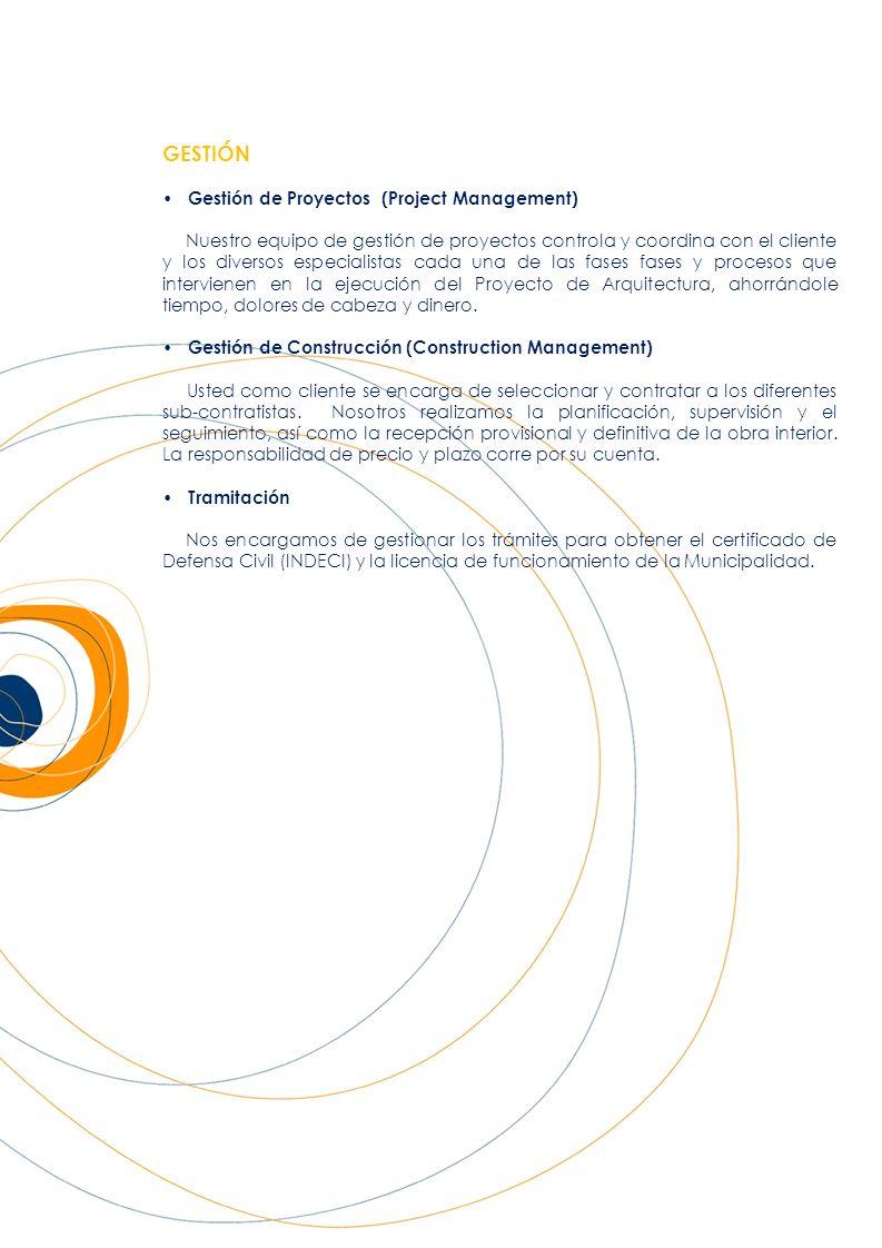 GESTIÓN • Gestión de Proyectos (Project Management)