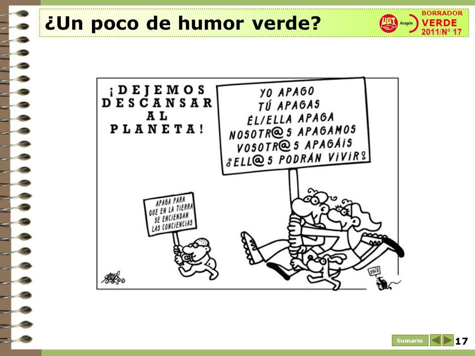 ¿Un poco de humor verde BORRADOR VERDE 2011/Nº 17 Sumario