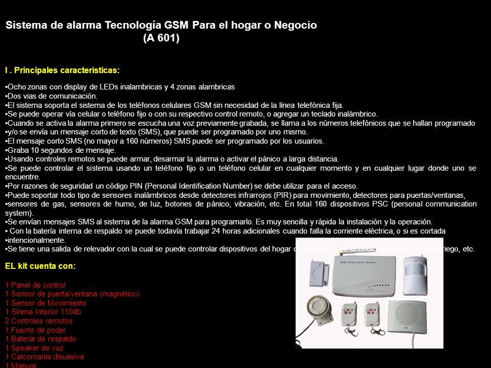 Sistema de alarma Tecnología GSM Para el hogar o Negocio