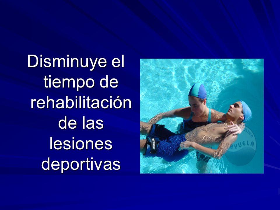 Disminuye el tiempo de rehabilitación de las lesiones deportivas