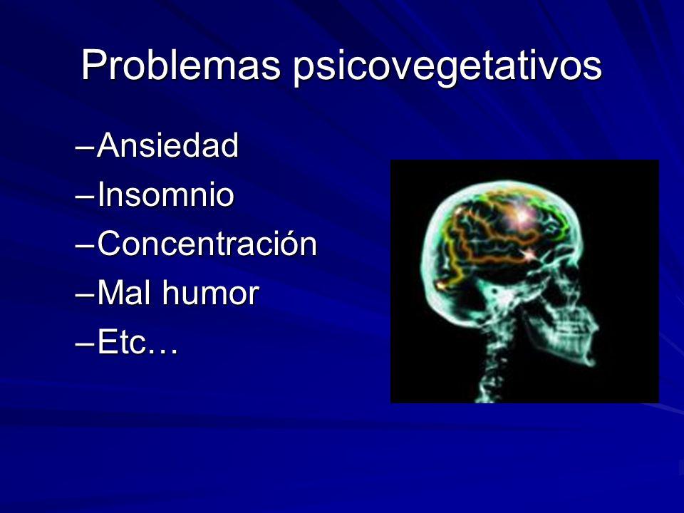 Problemas psicovegetativos
